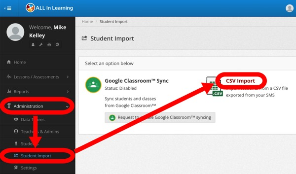 Upload Students to Your Campus via CSV File Import – Help Categories